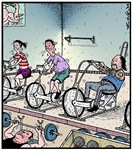Gym exercise Bikie