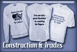 Construction & Trades T-shirts and Gifts