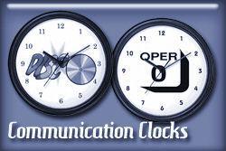 Communications Occupations Wall Clocks