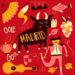 Funny Madrid Illustration