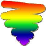 Hand Drawn Rainbow Triangle