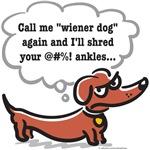 Wiener dog (ankles)