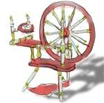Milk Paint Spinning Wheel