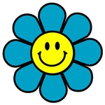 Smiley Blue Flower