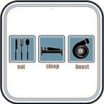EAT, SLEEP, BOOST