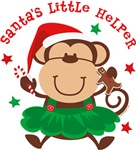 Monkey Girl Santa's Helper