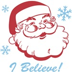 Retro Santa Believe