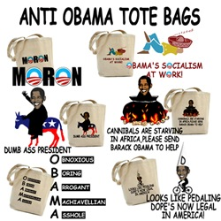 Anti Obama Tote Bags-Tote Bags anti Barack Obama