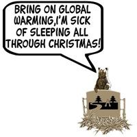 Spoof Global Warming Christmas Bear Shirts
