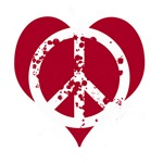 Red Peace Heart