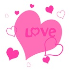 Pink Heart of Love