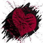 Black and red Heart