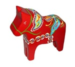 Carved Red Dala Horse