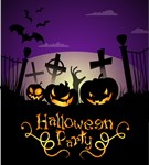 Halloween Party purple background