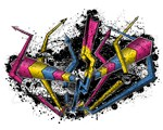 Graffiti Pansexual Lightning and Arrows