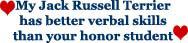 My Jack Russell Has Better Verbal Skills...