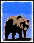 Winter Grizzly Bear