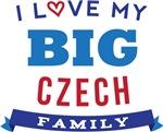 I Love My Big Czech Family Tshirts