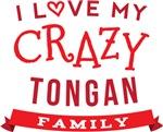 I Love My Crazy Tongan Family Tshirts