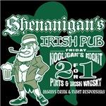 Shenanigan's Irish Pub (dark shirts)