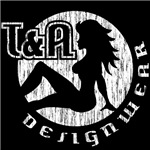 T&A Designwear distressed logo (White print)