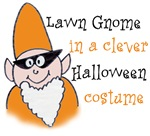 Lawn Gnome in a clever Halloween costume