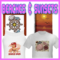 Beaches and Sunsets Scenic T-Shirts & Gifts