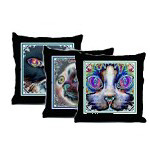 Wild Psychedelic Cat Pillows