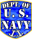Dept. U.S. Navy Cammo Shield