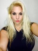 Hot Blonde Babe Blue Eyes US Power
