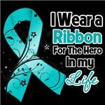 Ribbon Hero in My Life Ovarian Cancer Shirts