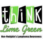 Think Lime Green Non-Hodgkin's Lymphoma T-Shirts