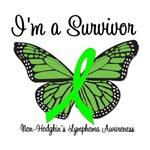 Survivor Non-Hodgkin's Lymphoma Butterfly T-Shirts