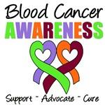 Blood Cancer Awareness Ribbons T-Shirts