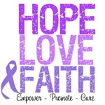 Hope, Love & Faith Hodgkin's Lymphoma Shirts
