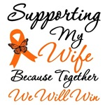 Orange Ribbon Butterfly Support Shirts & Gifts