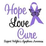 Hodgkin's Lymphoma Hope Love Cure Shirts & Gifts