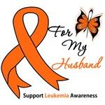 Leukemia Ribbon For My Husband Shirts & Gifts