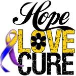 Hope Love Cure Bladder Cancer Shirts