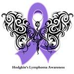 Hodgkin's Lymphoma Tribal Butterfly Shirts
