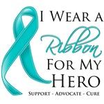 I Wear a Ribbon For Hero Ovarian Cancer Shirts