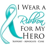 Cervical Cancer I Wear a Ribbon For My Hero Shirts