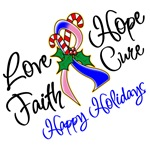 Holiday Hope Male Breast Cancer Shirts and Gifts