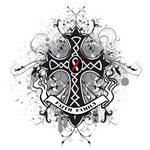 Celtic Prayer Cross Oral Cancer Shirts