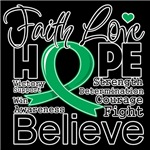 Faith Hope Liver Cancer Shirts