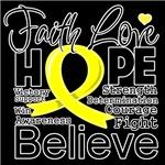 Faith Hope Sarcoma Cancer Shirts