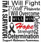 Melanoma Cancer Persevere Shirts