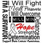 Bone Cancer Persevere Shirts