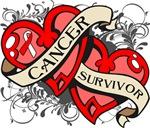 Oral Cancer Survivor Double Heart Shirts