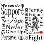 Carcinoid Cancer Supportive Words Shirts
